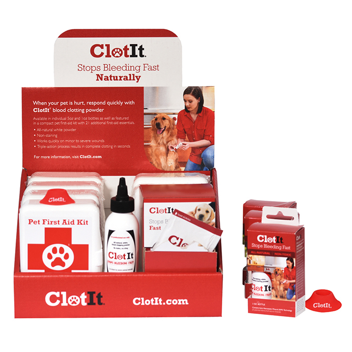 Clotit Master Salon Sales Kit natural blood clotting powder