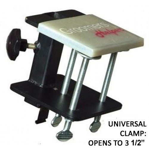 Groomers Helper 1 inch Universal Clamp opens to 3.5 inches