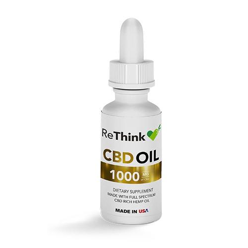 ReThink CBD Hemp Tincture Oil – 1000mg / 30ml